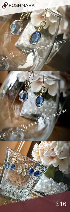 Light Blue Earrings ‼️‼️JUST REDUCED ⬇️   🆕🆕🆕🆕🆕🆕 New- Delicate- Hand Made- Blue Topaz- Teardrop - Earrings! Beautiful and easy to pair with virtually anything in your closet!! From a cute maxi dress to a formal dress and anything in between Jewelry Earrings