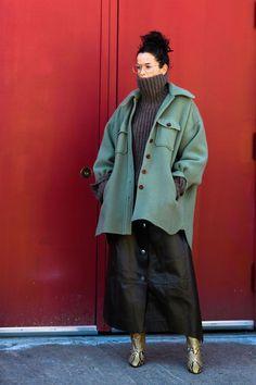 【2019-20秋冬コレクション】NYで見つけた、おしゃれエリートたちの最旬冬コーデスナップ|ハーパーズ バザー(Harper's BAZAAR)公式
