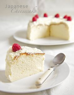 Seeing is believing, and in this case, tasting is believing. Here, we have a Japanese Cheesecake. Lighter on the palette and boasting fluffier naughty bits than its Western cousin, it deceives you ...thank you for posting ;)
