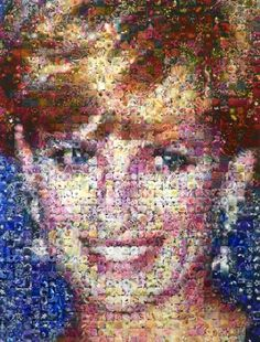 "Robert Silvers ""Diana"" Photomosaic : Lot 80"