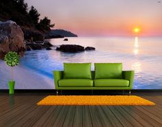 Bay Sunset Repositionable Wall Mural by FotoWalls. by FotoWallsUSA
