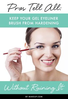 We love using gel eyeliner, but sometimes the brush hardens and becomes impossible to use. This guide will tell you how to keep your gel eyeliner brush from hardening without ruining it. Makeup Pro, Makeup Brushes, Makeup Tips, Beauty Makeup, Eye Makeup, Eyeshadow Brushes, Makeup Tutorials, Eyeliner Brush, Hair And Beauty