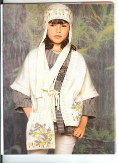 Cappello, kimono e borsa