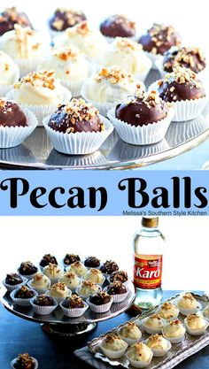 These buttery bite-size Pecan Balls are a pint size indulgence that will make a welcome addition to your holiday goodies plan this year. Cookie Desserts, Holiday Desserts, Just Desserts, Holiday Recipes, Delicious Desserts, Wedding Desserts, Mini Desserts, Health Desserts, Thanksgiving Baking
