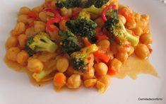 Guisado de Grão e Brócolos