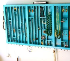 Jewelry Storage for redecorated bedroom? Looks a bit fiddly to make, but worth considering...