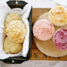 Jam-infused butters and buttermilk biscuits