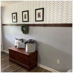Sharpie Wall, Herringbone Wall, Accent Wall Bedroom, Accent Wall In Bathroom, Accent Wall Colors, Diy Wall, Wall Art, Wall Decal, Diy Home Decor Projects