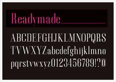 レディメイドフォント無料ダウンロード 欧文フリーフォント|レディメイドフォント無料ダウンロード http://www.flopdesign.com/font3/readymade.html