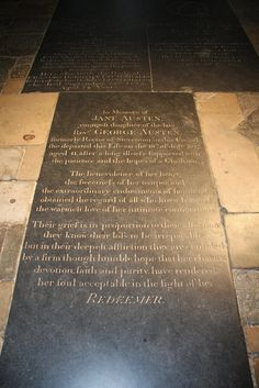 Jane Austen (1775 - 1817) Winchester Cathedral  Winchester , Hampshire , ENGLAND.