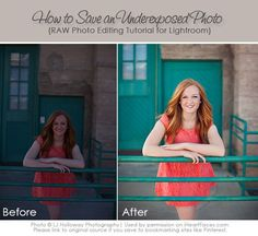 How to save an underexposed photo!  Great Photo Editing Tutorial for Lightroom. IHeartFaces.com