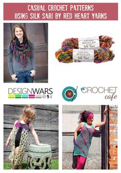 Crochet Patterns with Silk Sari by Red Heart