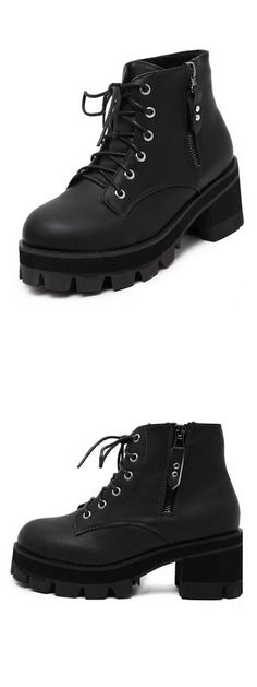 LOVE it, This is platform ankle boots. Click pics for best price, Only $60.99.Find it at Choies.com!
