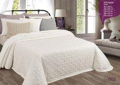Colcha verano algodón 100%, disponible en color blanco, piedra y malva.