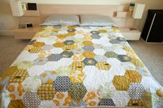 Mistakes & Malarkey: Hexagon Quilt Completed