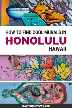 Find the best murals in Honolulu Hawaii with this guide. Spotting street art is one of the coolest things to do there and you can get your fill in the hipster Kaka'ako neighborhood. Learn about the POW WOW festival and get a map to the best murals. Usa Travel Guide, Travel Usa, Travel Guides, Travel Tips, Hawaii Vacation, Hawaii Travel, Tribal Community, Honolulu Hawaii, Oahu