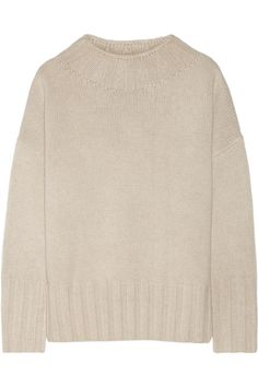 THE ROW Meme oversized merino wool and cashmere-blend sweater. #therow #cloth #sweater