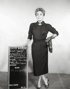 Vintage Wardrobe Test Shots for Famous Movies  Joan Crawford, The Best of Everything, 1959.