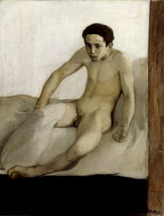 The Awakening, 1893 by Magnus Enckell on Curiator, the world's biggest collaborative art collection. Stockholm, Figure Painting, Painting & Drawing, Painting People, Edward Hopper, Nordic Art, Art Of Man, Thing 1, Male Figure