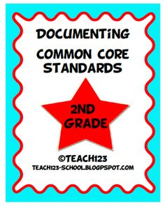 A packet that will help you document Common Core Standards - 2nd grade.