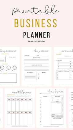 Business Plan Template Discover Printable Business Planner Daily Business Planner 30 Printable Pages Business Expense Tracker, Business Planner, Business Goals, Business Branding, Business Tips, Business Management, Daily Expense Tracker, Business Analyst, Business Journal