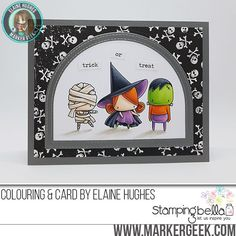 Marker Geek Monday: Littles Frankie, Witchy & Mummy Colouring Video & Tips