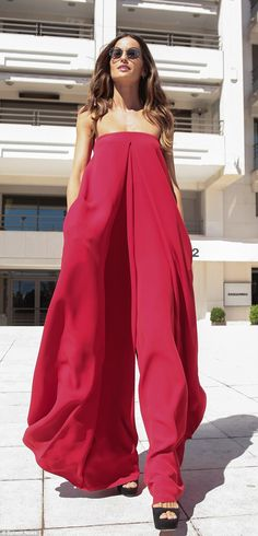 66e9eecb21c Izabel Goulart stuns in red flared jumpsuit at Cannes Film Festival