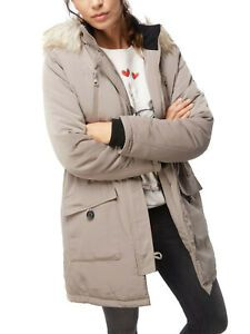 Tom Tailor Denim Damen Winterjacke Parka Wintermantel taupe
