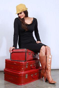 Boom Shankar 50s dresses Little Black Dress - Womens Knee Length Dresses - Birdsnest Clothing Online