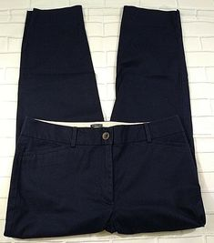 a2944063e Talbots The Perfect Crop Size 6 Dark Blue Curvy Khaki Chino Pants Womens # Talbots #