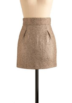 shimmery tweed skirt by modcloth