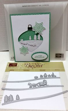 Stampin Up Sleigh Ride Edgelits Dies w Bonus Card Trees House Jingle All The Way | eBay