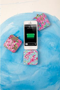Lilly Pulitzer Portable iPhone 5/5S & 6 Charger $34
