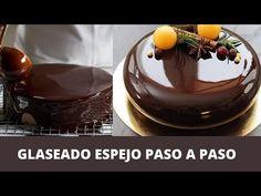 Glaseado espejo de chocolate | Receta paso a paso. - YouTube Chocolate Sweets, Pie Cake, Canapes, Croissant, Frosting, Fondant, Panna Cotta, Pudding, Bread