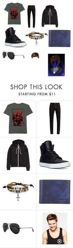 """""""Eyeless Jack casual"""" by wolfshadow99 on Polyvore featuring JEM, Yves Saint Laurent, H&M, Supra, Bling Jewelry, Diesel, Ray-Ban, Toni&Guy, men's fashion and menswear"""
