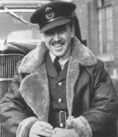 """Mark Henry """"Hilly"""" Brown  Canada's 1st Ace of WW2 (14 May 1940) &  The 1st Allied pilot to fly a captured German plane in WW2.  RAF W/C - DFC & Bar  Czech Military Medal & Military Cross, French Croix de Guerre."""