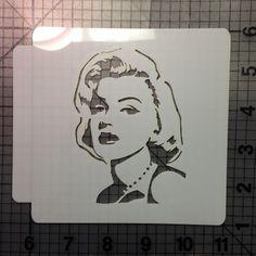 Custom Cookie Cutters, Custom Cookies, Marilyn Monroe Stencil, Stencils Online, Large Stencils, Stencil Material, Edible Glitter, Graffiti Lettering, Stencil Designs