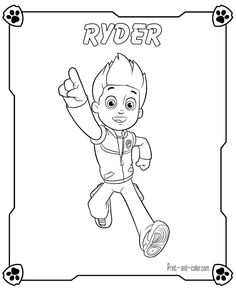 There are many high quality Paw Patrol coloring pages for your kids - printable free in one click.