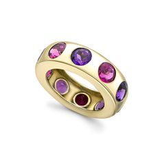 Amethyst and Rubellite Gold Ring