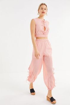 192c5966b792 Slide View: 1: The East Order Luca Slit Side-Tie Balloon Pant Balloon