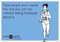 run for health, not praise