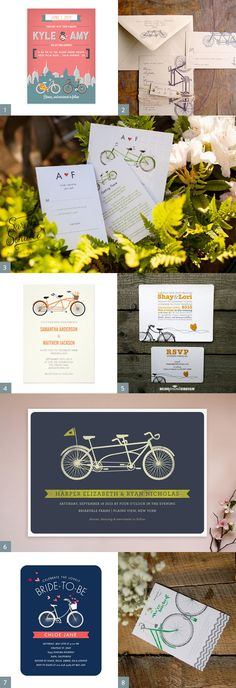 Bicycle Wedding Invitation Inspiration - Adorable