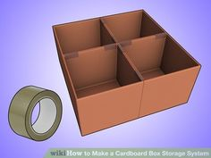 Image titled Make a Cardboard Box Storage System Step 2Bullet2