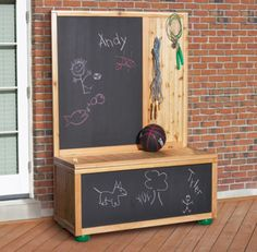 9 Free DIY Toy Box Plans That The Children In Your Life Will Love: Chalkboard Toy Box Plan from Home Depot