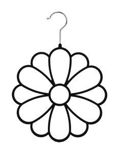 Tidy Living - 6PK High Quality Black Flocked Flower Scarf Hanger #TidyLiving