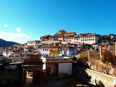 Tashilhunpo Kloster, Shigatse. Das wichtigste tibetische Kloster im Westtibet.