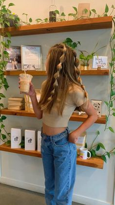 Teen Hairstyles, Hairstyles For School, Pretty Hairstyles, Hairstyles For Picture Day, Country Girl Hairstyles, Cute Hairstyles For Teens, Casual Hairstyles, Summer Hairstyles, Hair Inspo