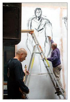 #Bretagne #Finistere © Paul Kerrien  http://toilapol.net  : 21 septembre à la médiathèque des Ursulines - #Quimper : performance du peintre Paul #Bloas et du guitariste Serge #Teyssot-Gay