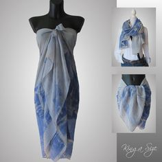 Schal * Pareo Sarong Strandtuch Wickelrock Scarf Loop Tuch Beach Dress – F10