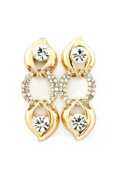 Emme Crystal Teardrop Earrings